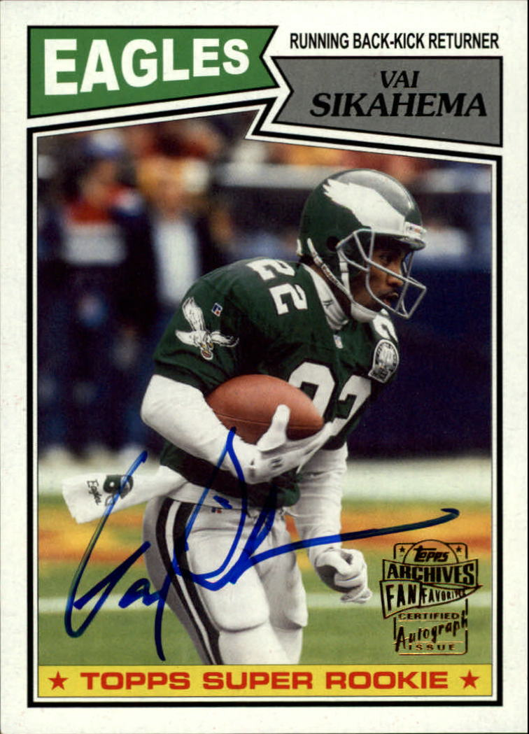 2013 Topps Archives Fan Favorite Autographs #FFAVS Vai Sikahema