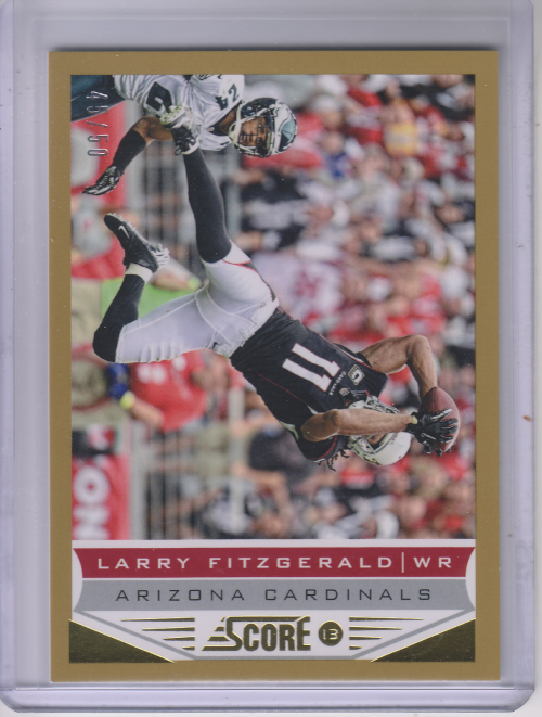 2013 Score Gold Zone #2 Larry Fitzgerald