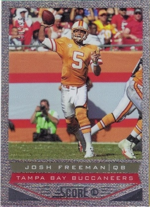 2013 Score Showcase #200 Josh Freeman