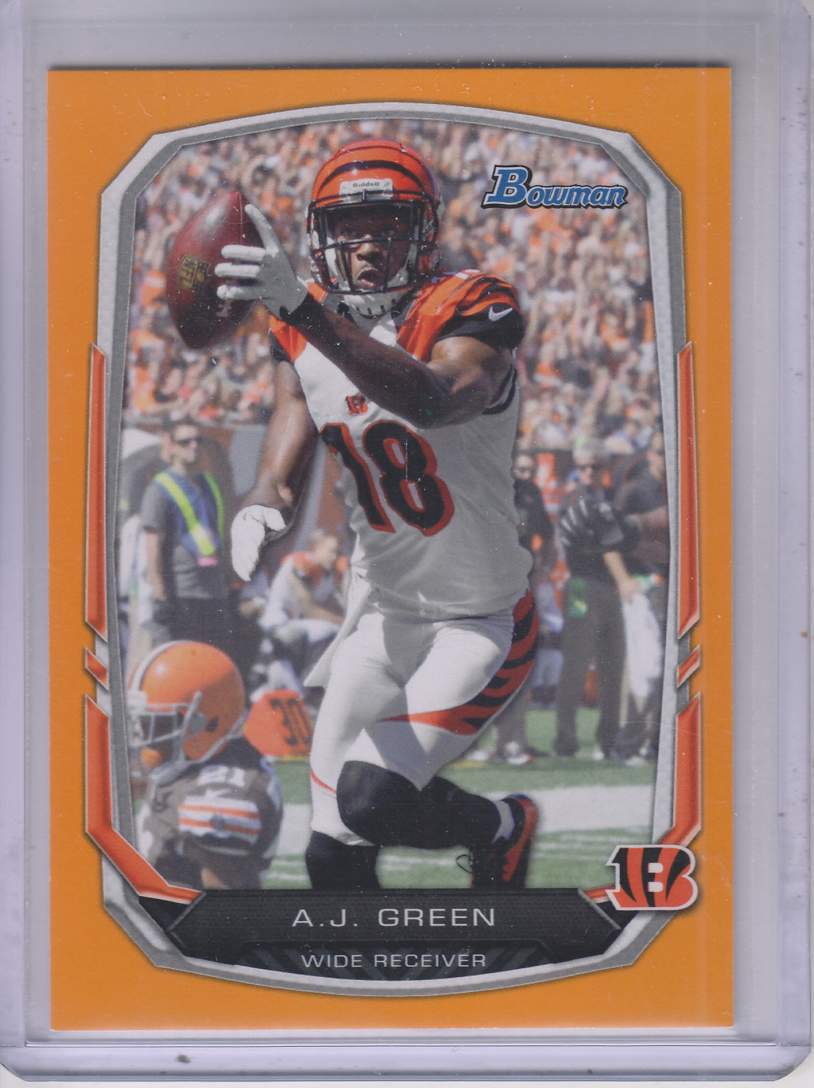 2013 Bowman Orange #80 A.J. Green