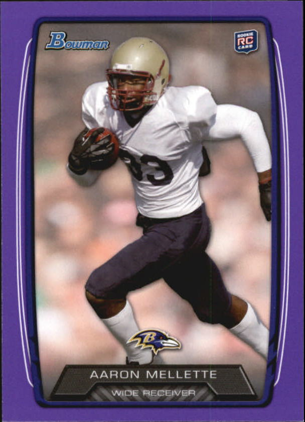 2013 Bowman Purple #195 Aaron Mellette