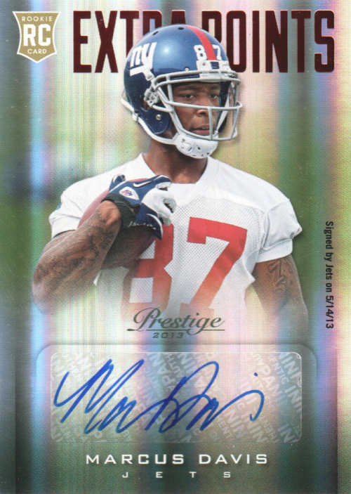 2013 Prestige Extra Points Red Autographs #259 Marcus Davis