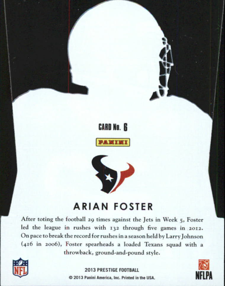 2013 Prestige Stars of the NFL #6 Arian Foster