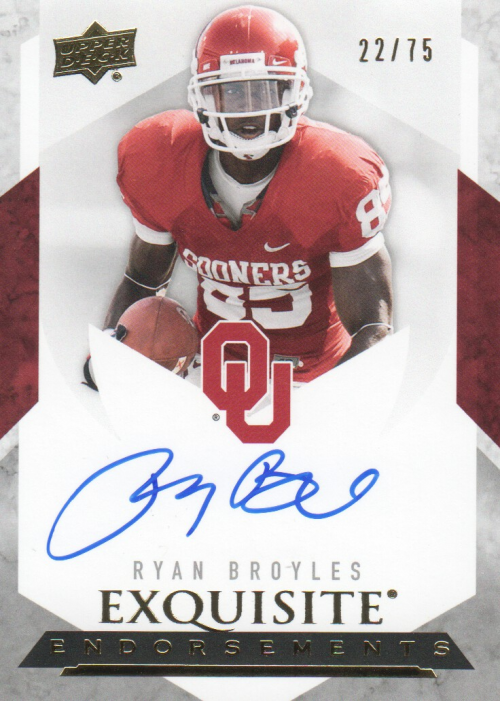 2012 Exquisite Collection Endorsements #EERB Ryan Broyles