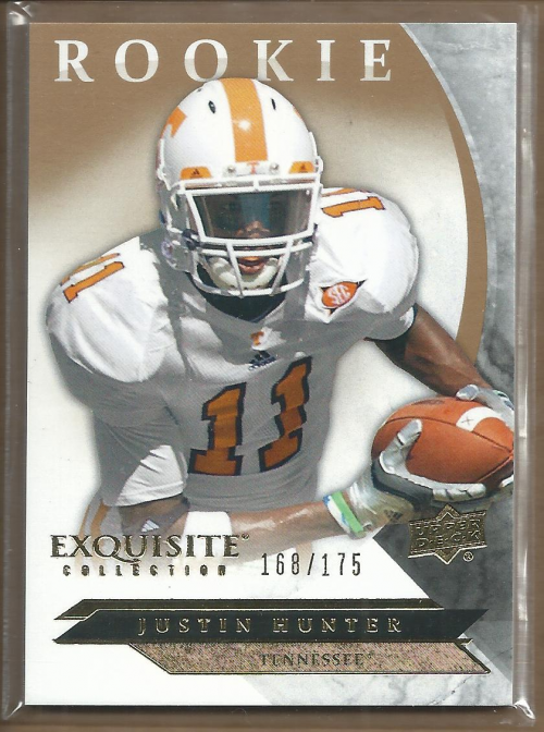 2012 Exquisite Collection Draft Picks #ERJH Justin Hunter