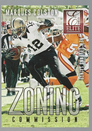 2013 Elite Zoning Commission Gold #17 Marques Colston