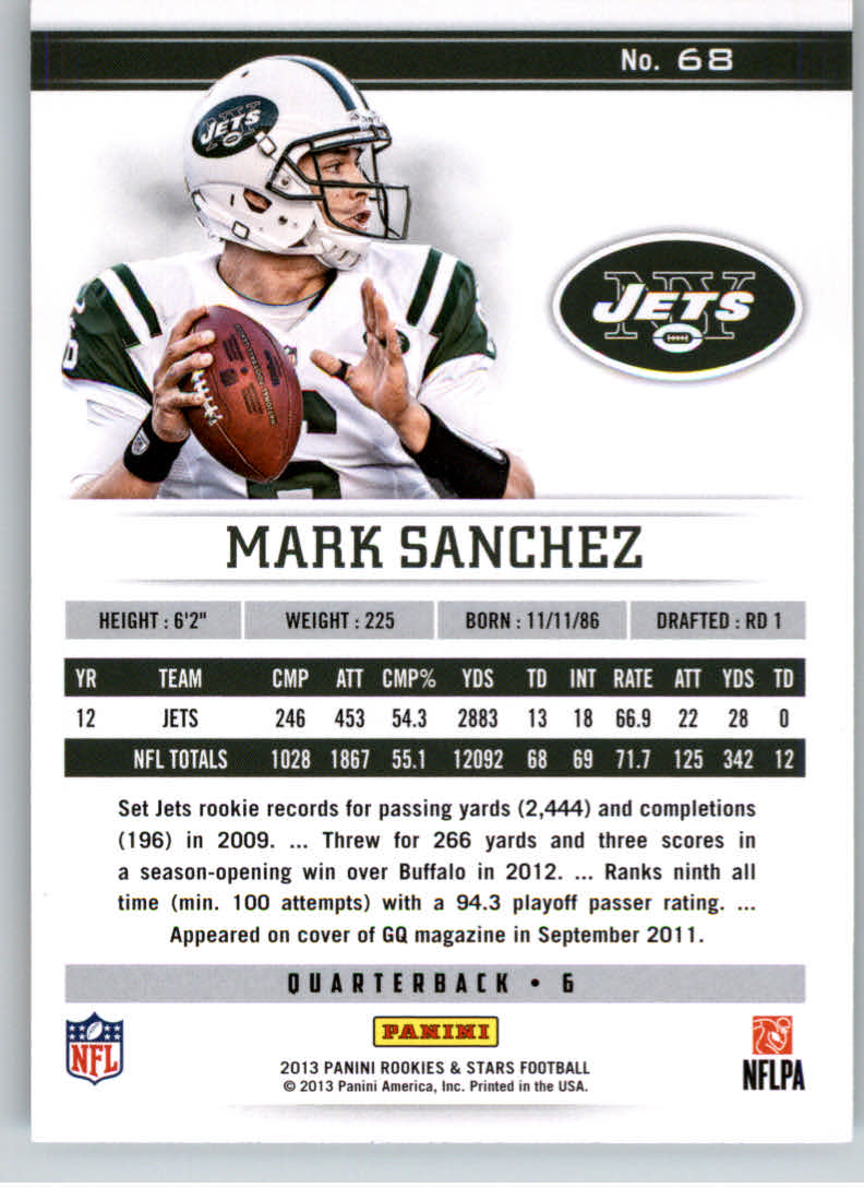 2013 Rookies and Stars #68 Mark Sanchez