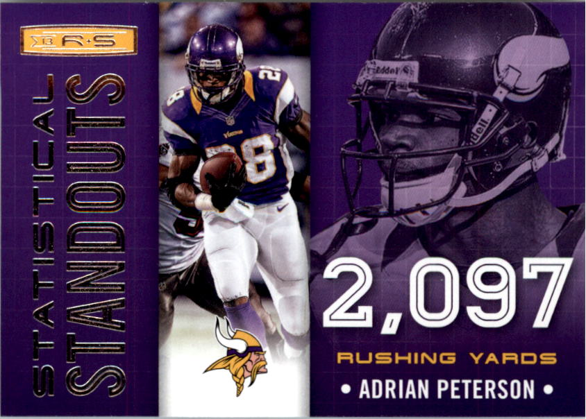 2013 Rookies and Stars Statistical Standouts #4 Adrian Peterson