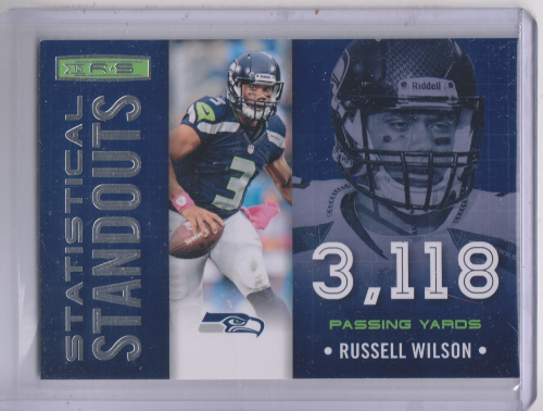 2013 Rookies and Stars Statistical Standouts #22 Russell Wilson