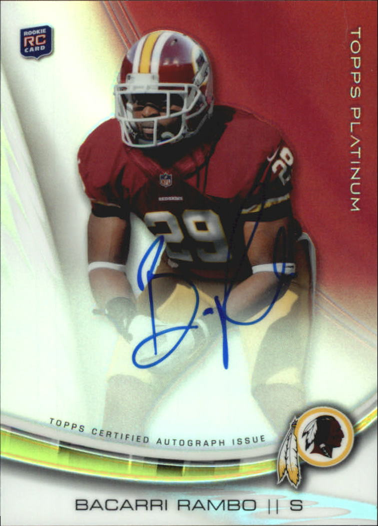 2013 Topps Platinum Rookie Autographs Refractors #ABR Bacarri Rambo