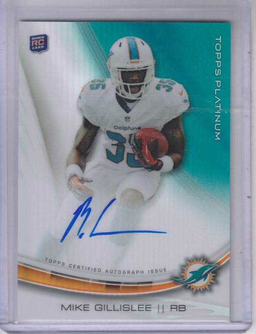 2013 Topps Platinum Rookie Autographs Refractors #AMG Mike Gillislee