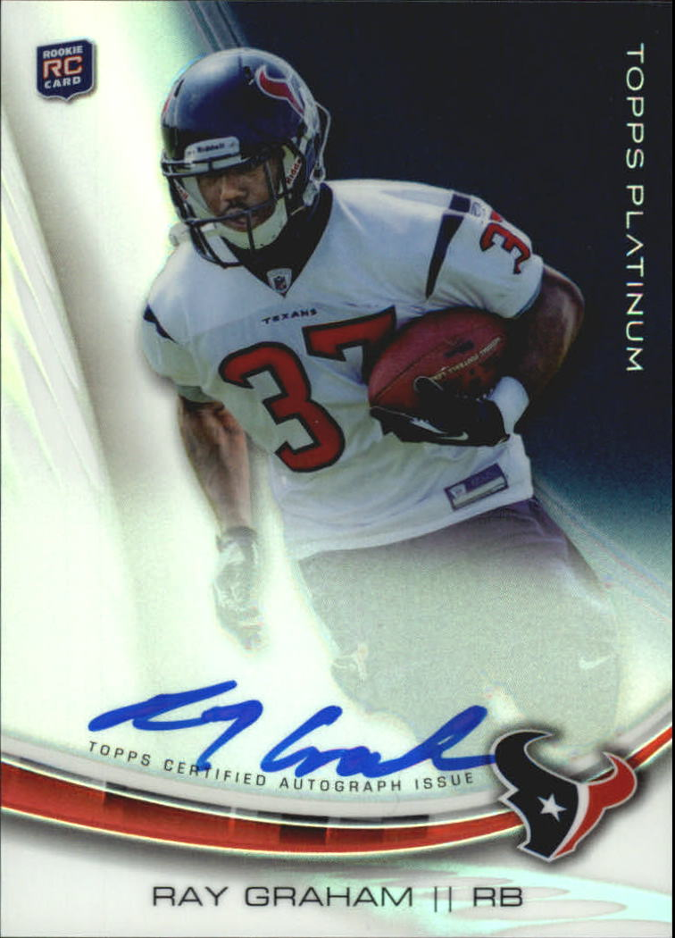 2013 Topps Platinum Rookie Autographs Refractors #ARG Ray Graham
