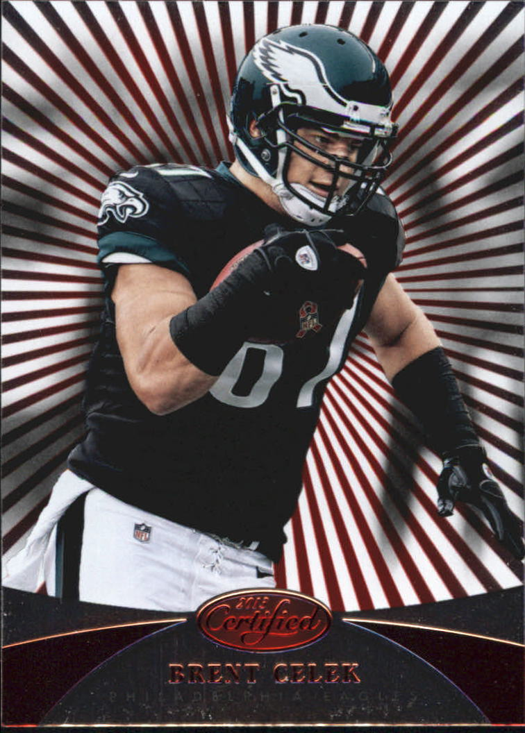 2013 Certified Platinum Red #125 Brent Celek