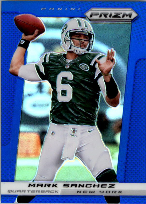 2013 Panini Prizm Prizms Blue #70 Mark Sanchez