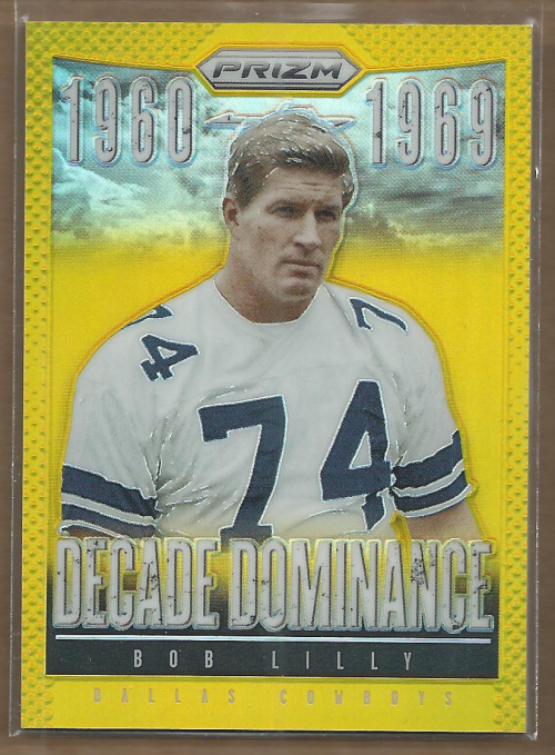 2013 Panini Prizm Decade Dominance Prizms Gold #3 Bob Lilly