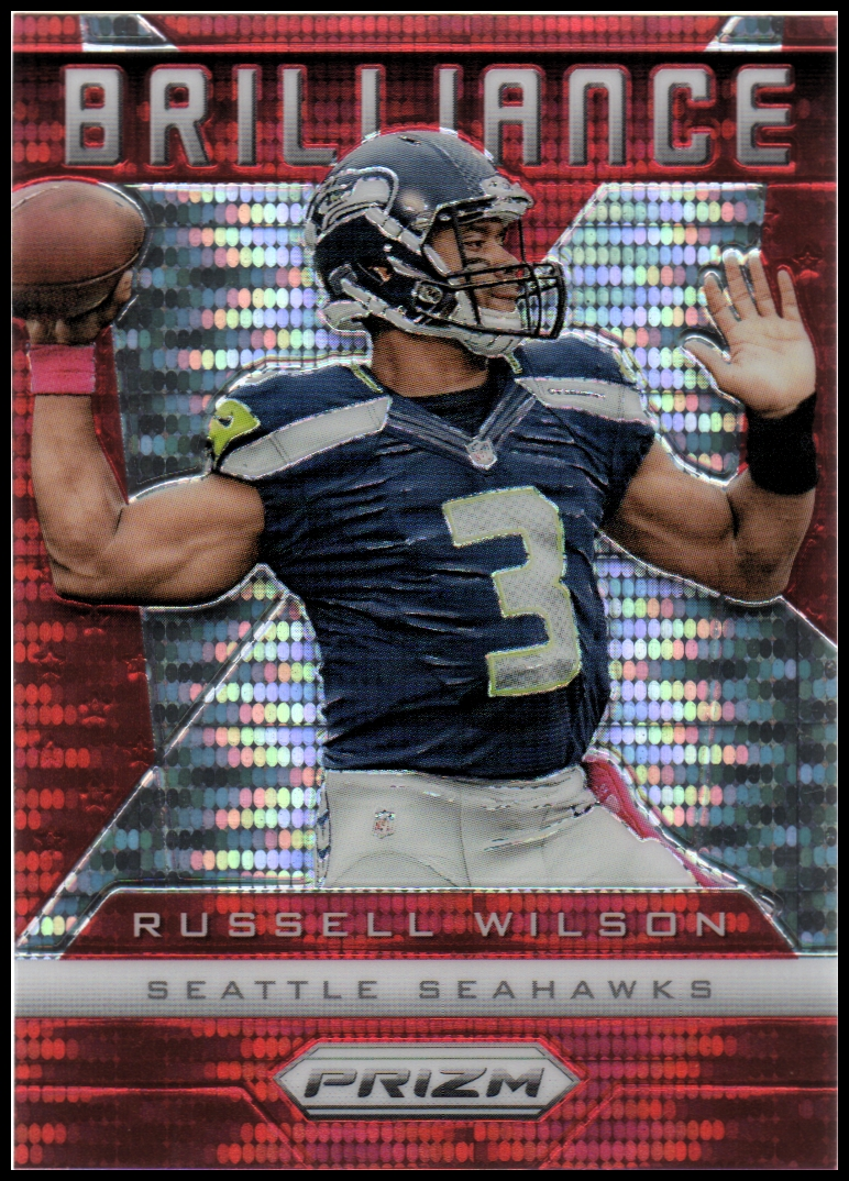 2013 Panini Prizm Brilliance Prizms Red Pulsar #16 Russell Wilson