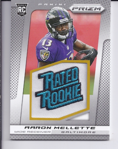 2013 Panini Prizm Rated Rookie Patches #202 Aaron Mellette