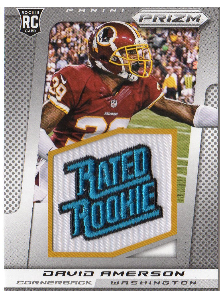 2013 Panini Prizm Rated Rookie Patches #224 David Amerson