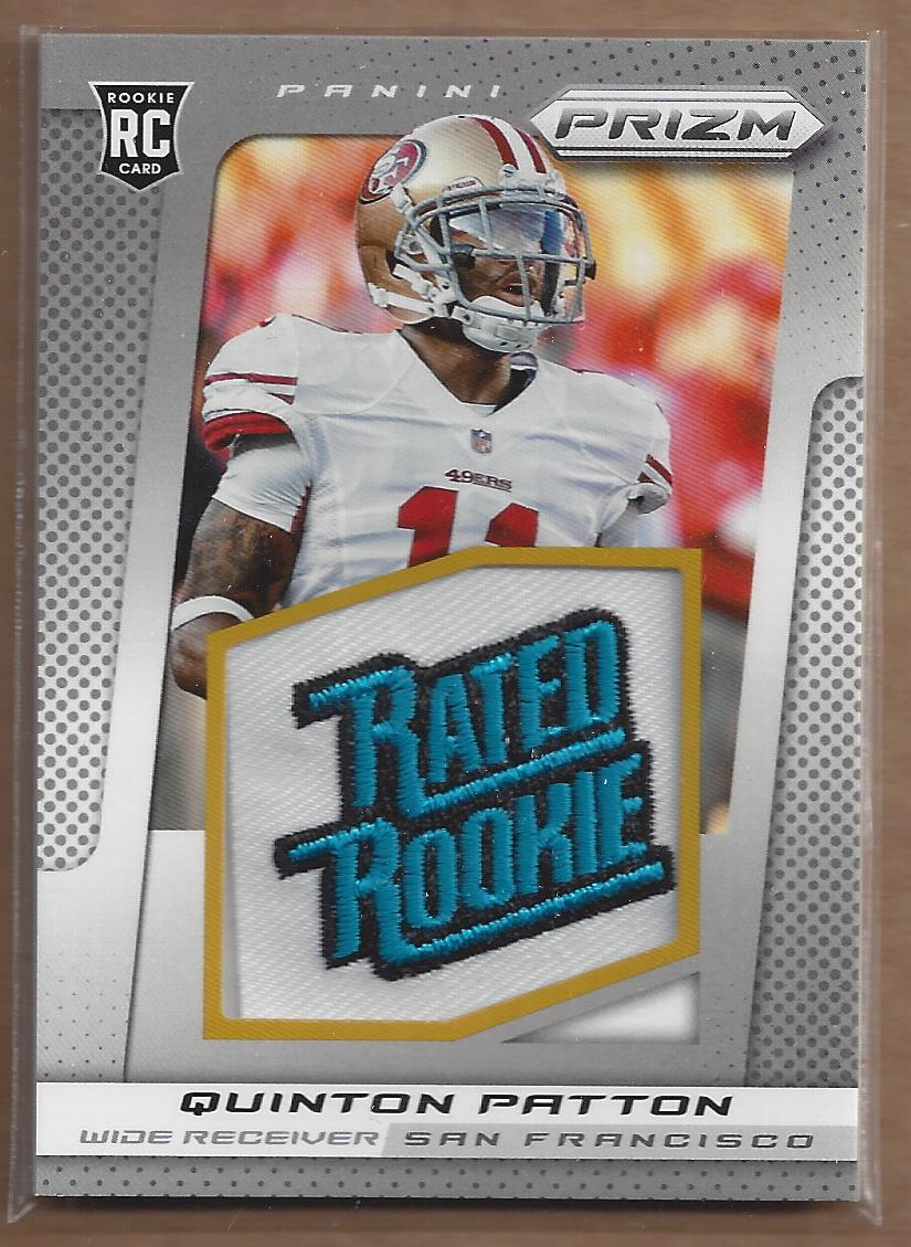 2013 Panini Prizm Rated Rookie Patches #277 Quinton Patton