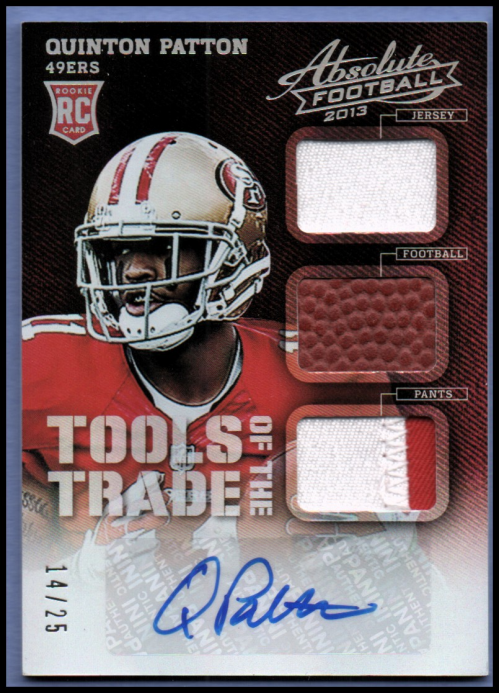 2013 Absolute Tools of the Trade Rookie Material Autographs Prime #30 Quinton Patton