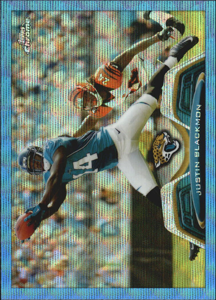 2013 Topps Chrome Blue Wave Refractors #173 Justin Blackmon