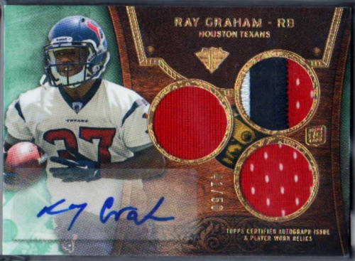2013 Topps Triple Threads Emerald #149 Ray Graham JSY AU