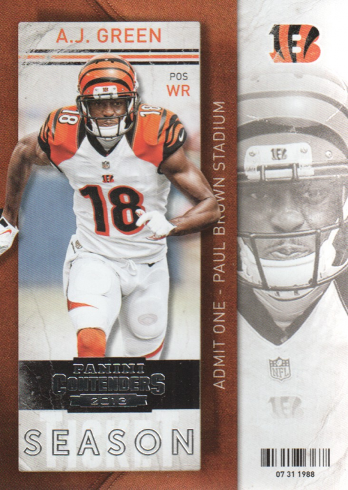 2013 Panini Contenders #9 A.J. Green