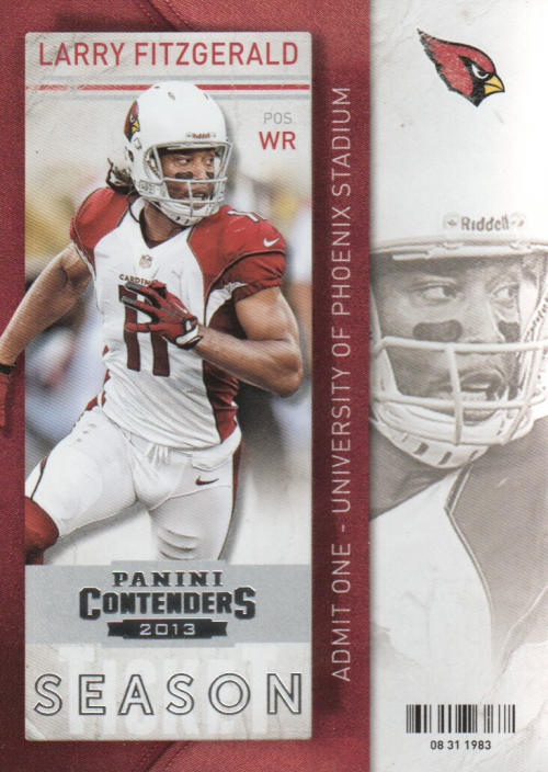 2013 Panini Contenders #25 Larry Fitzgerald