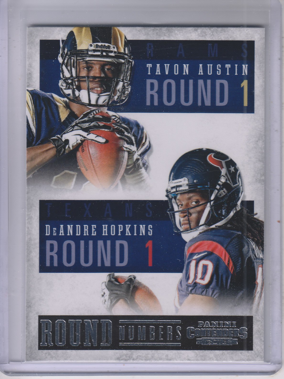 2013 Panini Contenders Round Numbers #3 DeAndre Hopkins/Tavon Austin