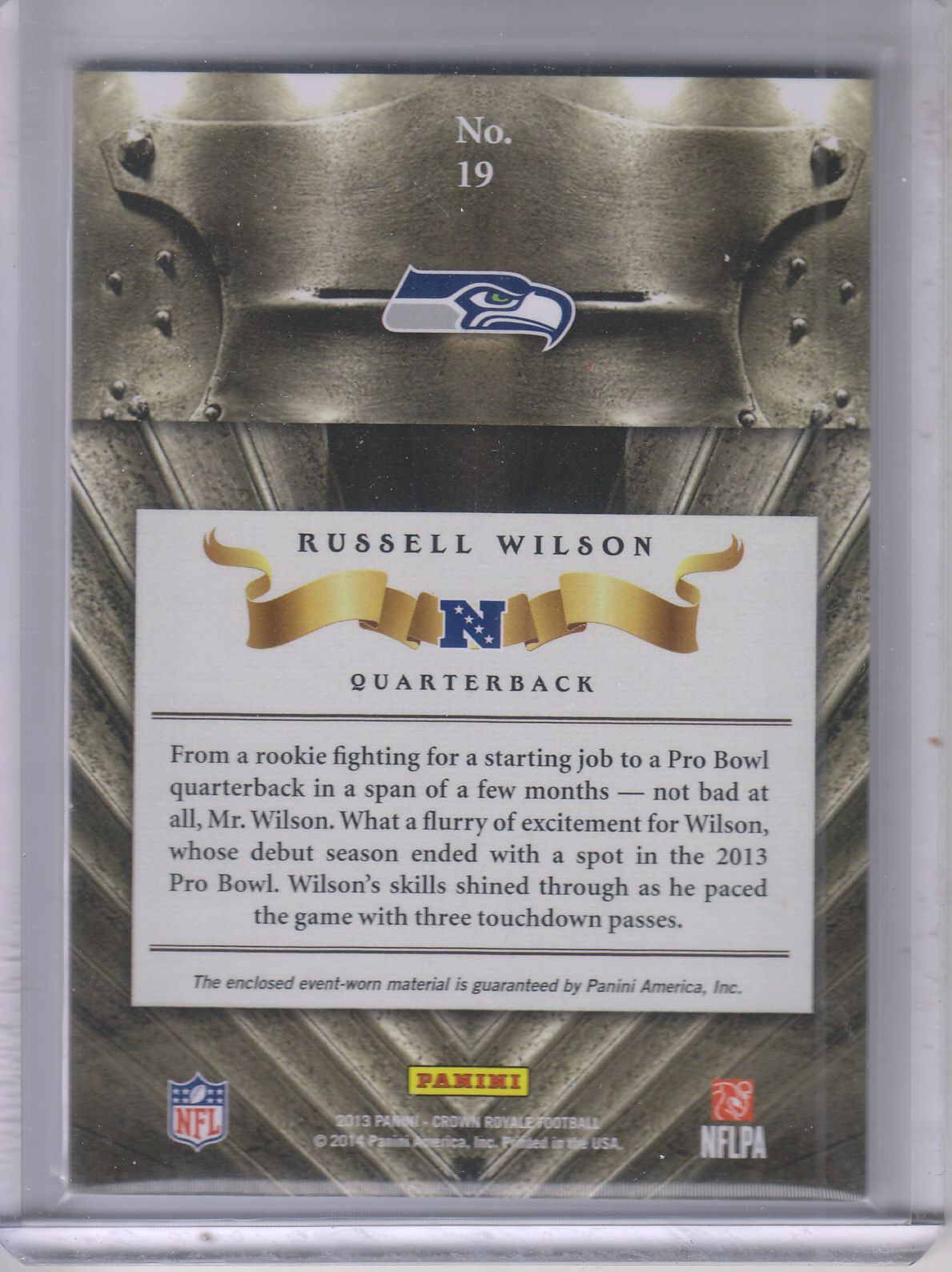 2013 Crown Royale All Pros Materials #19 Russell Wilson/299