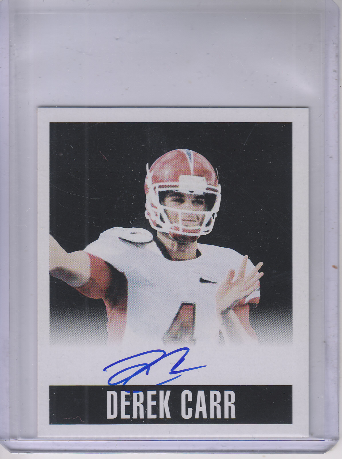 2014 Leaf Originals '48 Autographs Alternate Art Black #ADC1 Derek Carr