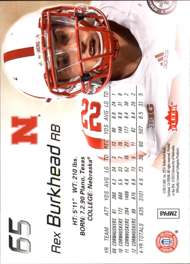 2013 Fleer Retro Flair Showcase #65 Rex Burkhead