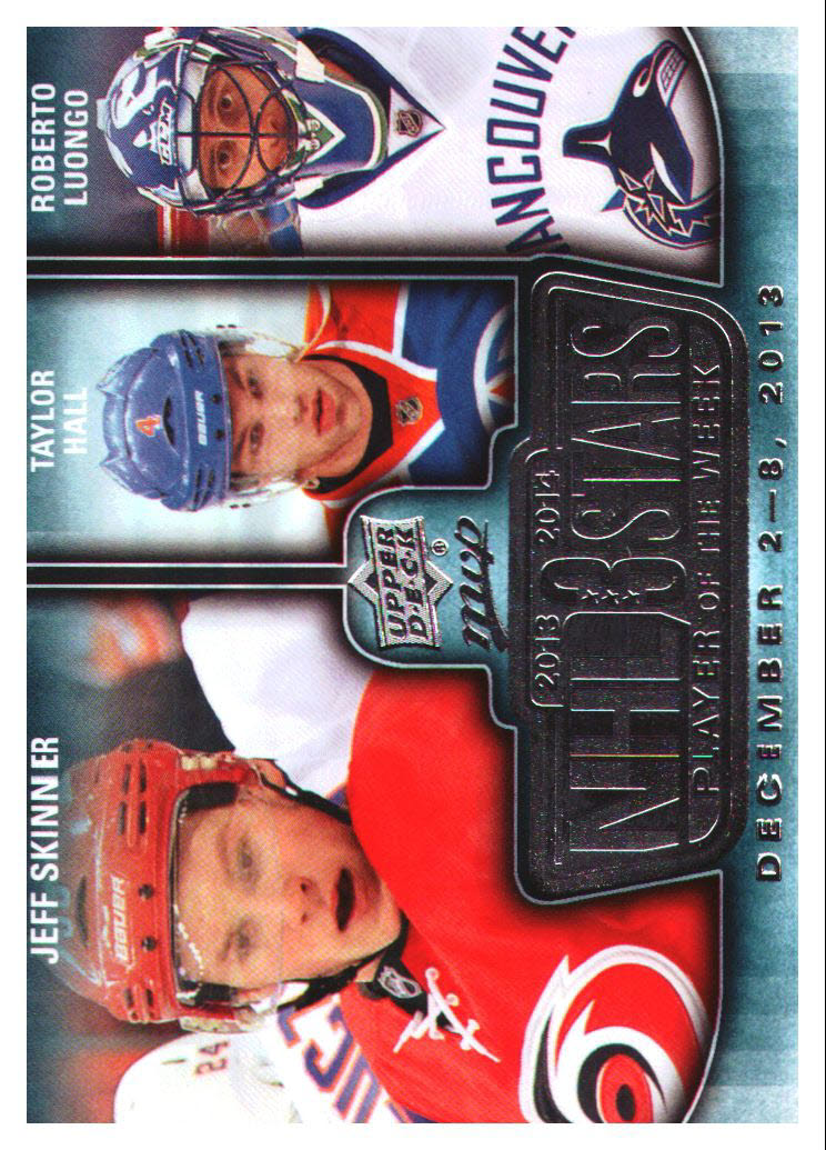 2014-15 Upper Deck MVP NHL Three Stars Player of the Week #3SW120913 Jeff Skinner/Taylor Hall/Roberto Luongo