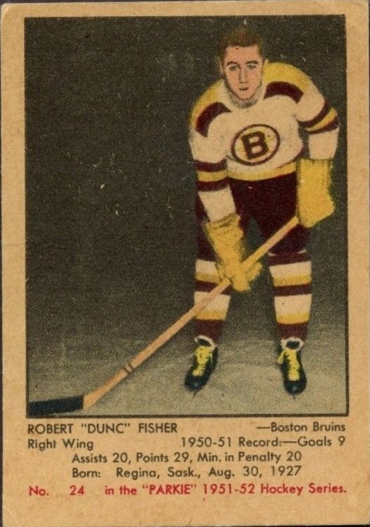 1951-52 Parkhurst #24 Dunc Fisher RC