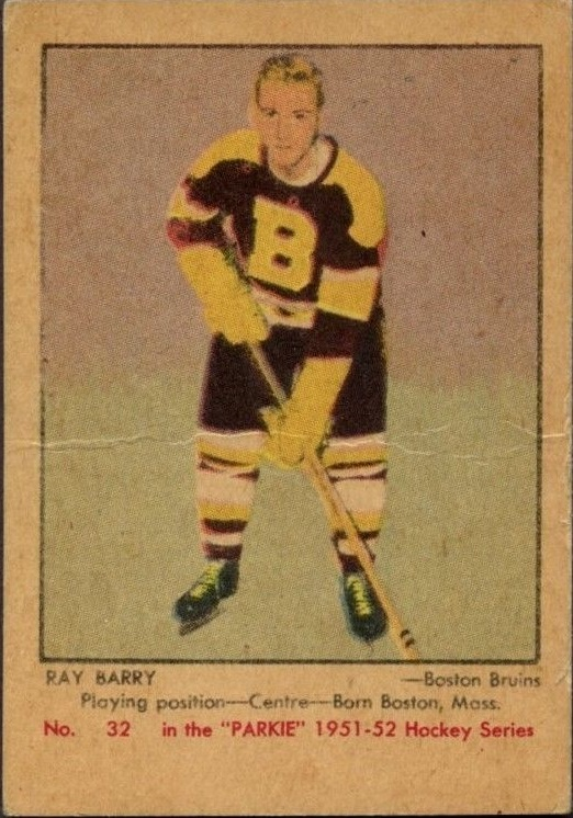 1951-52 Parkhurst #32 Ray Barry RC