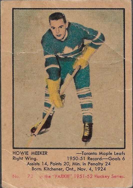 1951-52 Parkhurst #72 Howie Meeker RC