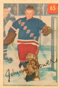 1954-55 Parkhurst #65 Johnny Bower UER RC