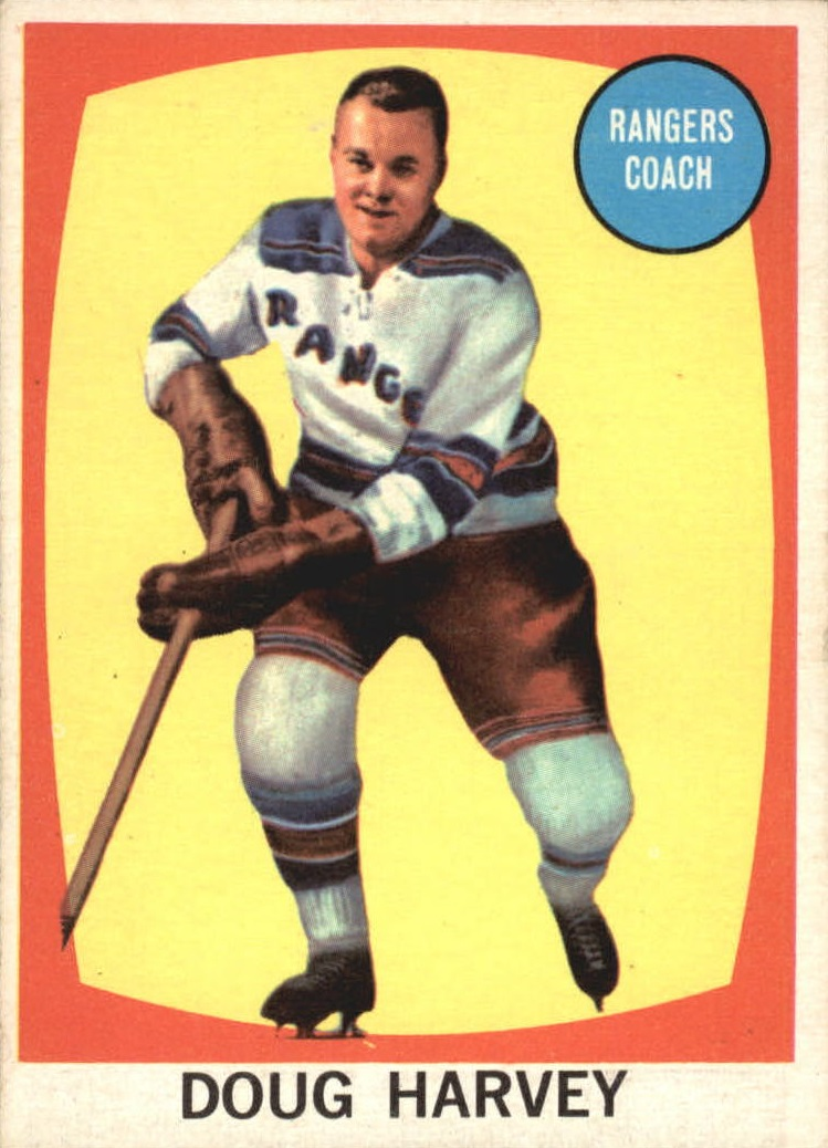 1961-62 Topps #45 Doug Harvey CO