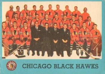 1962-63 Topps #44 Blackhawks Team