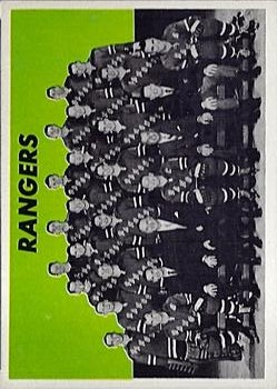 1965-66 Topps #127 New York Rangers/Team Card SP