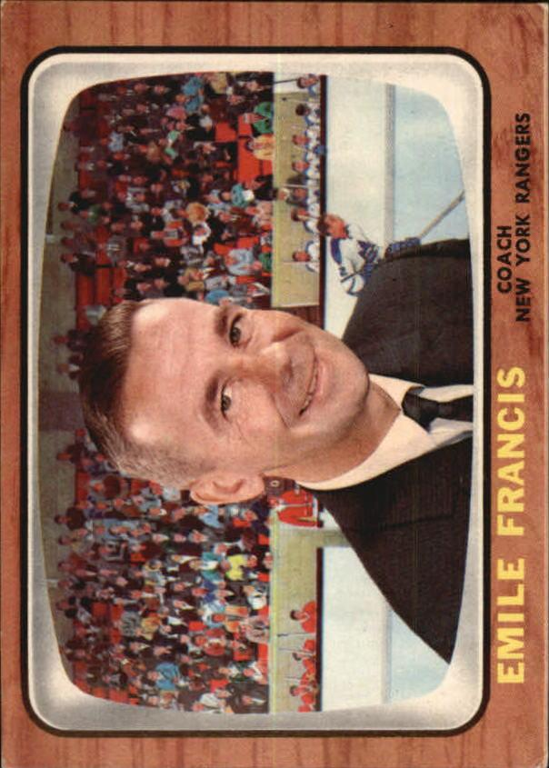 1966-67 Topps #21 Emile Francis CO RC