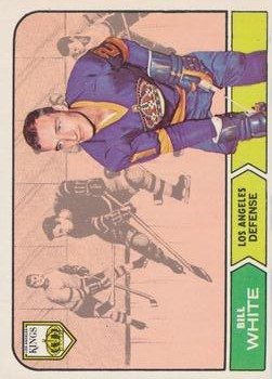 1968-69 O-Pee-Chee #37 Bill White RC