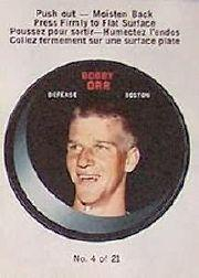 1968-69 O-Pee-Chee Puck Stickers #4 Bobby Orr