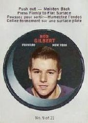1968-69 O-Pee-Chee Puck Stickers #9 Rod Gilbert