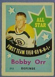 1969-70 O-Pee-Chee #212 Bobby Orr AS