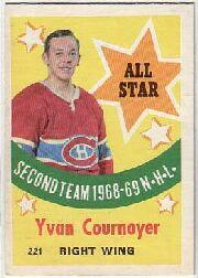 1969-70 O-Pee-Chee #221 Yvan Cournoyer AS