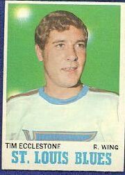 1970-71 O-Pee-Chee #102 Tim Ecclestone