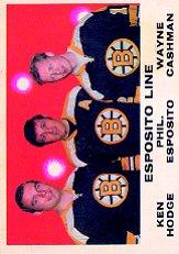 1970-71 O-Pee-Chee #233 Esposito line/Wayne Cashman/Ken Hodge/Phil Esposito
