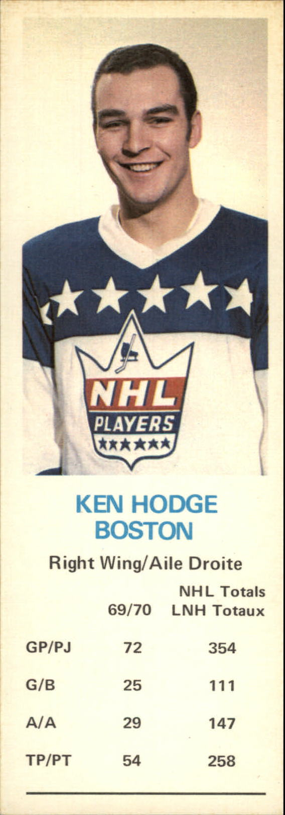 1970-71 Dad's Cookies #56 Ken Hodge