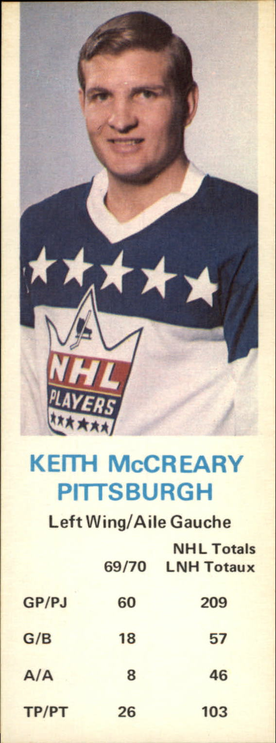 1970-71 Dad's Cookies #80 Keith McCreary
